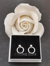 Load image into Gallery viewer, 925 Sterling Silver Hanging Circle Stud Earrings