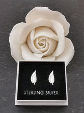 Load image into Gallery viewer, 925 Sterling Silver Leaf Stud Earrings