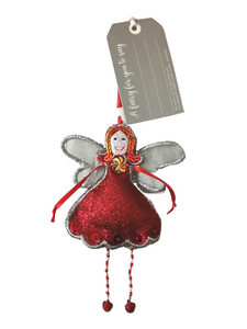 Glitter Fairy - Red (Personalise) - Fair Trade