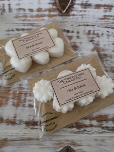The Perfect Wax Candle Co. Hand Poured Sea Salt & Sage Soy Wax Melts - 6pk