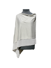 Load image into Gallery viewer, Lightweight Silver Grey Poncho with Chiffon Edge