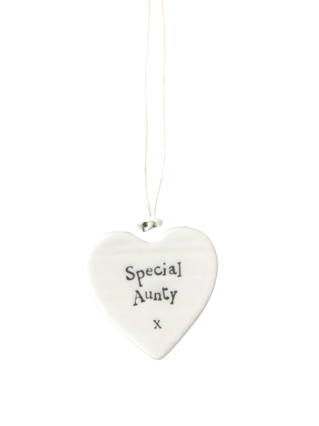 East of India Hanging Small Porcelain Heart - Special Aunty
