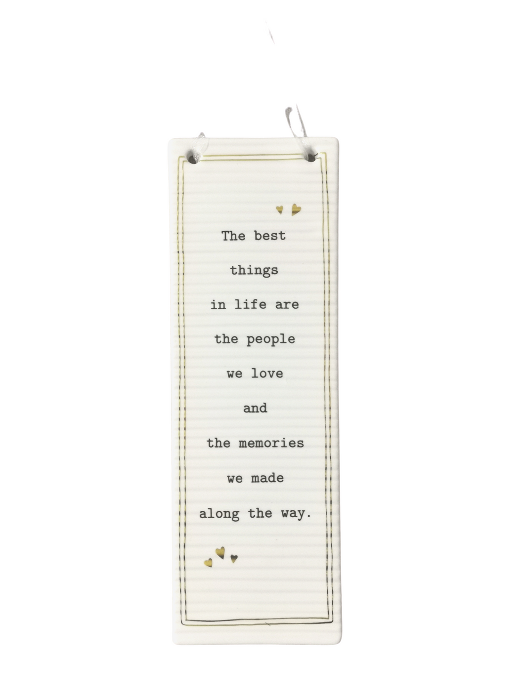 Thoughtful Words Long Rectangular Plaque - The Best Things