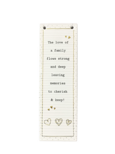 Thoughtful Words Long Rectangular Plaque - The Love Of (Family)