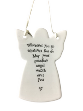 Load image into Gallery viewer, East of India Hanging Porcelain Angel - Wherever You Go