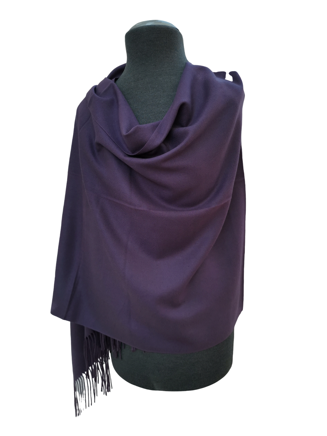 Plain Block Colour Cashmere Mix Wrap/Scarf - Purple