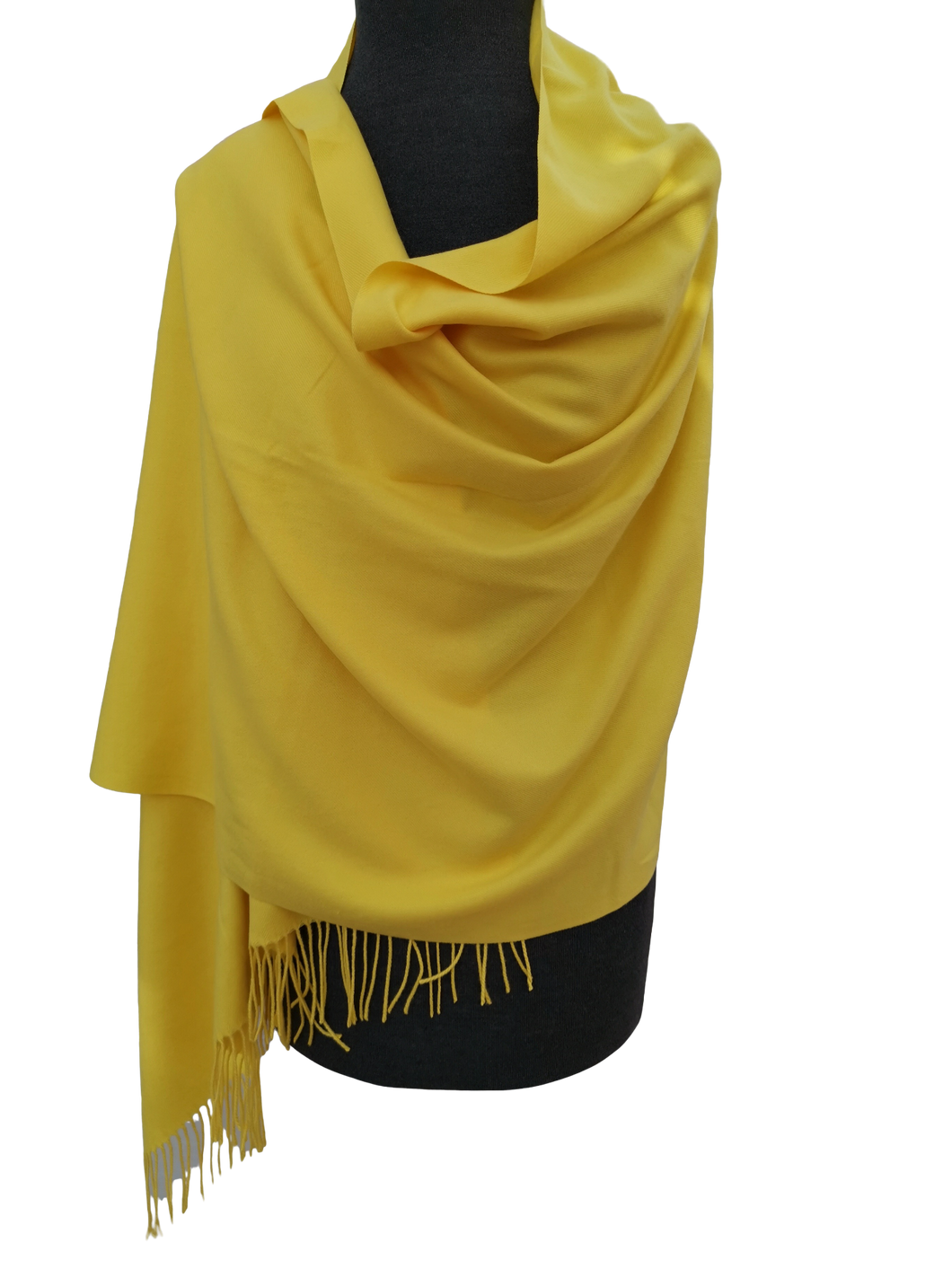 Plain Block Colour Cashmere Mix Wrap/Scarf - Yellow