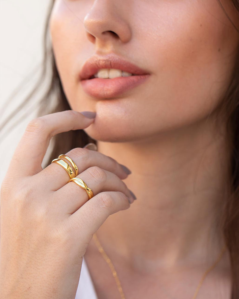 Riley 18K Gold Vermeil Ring