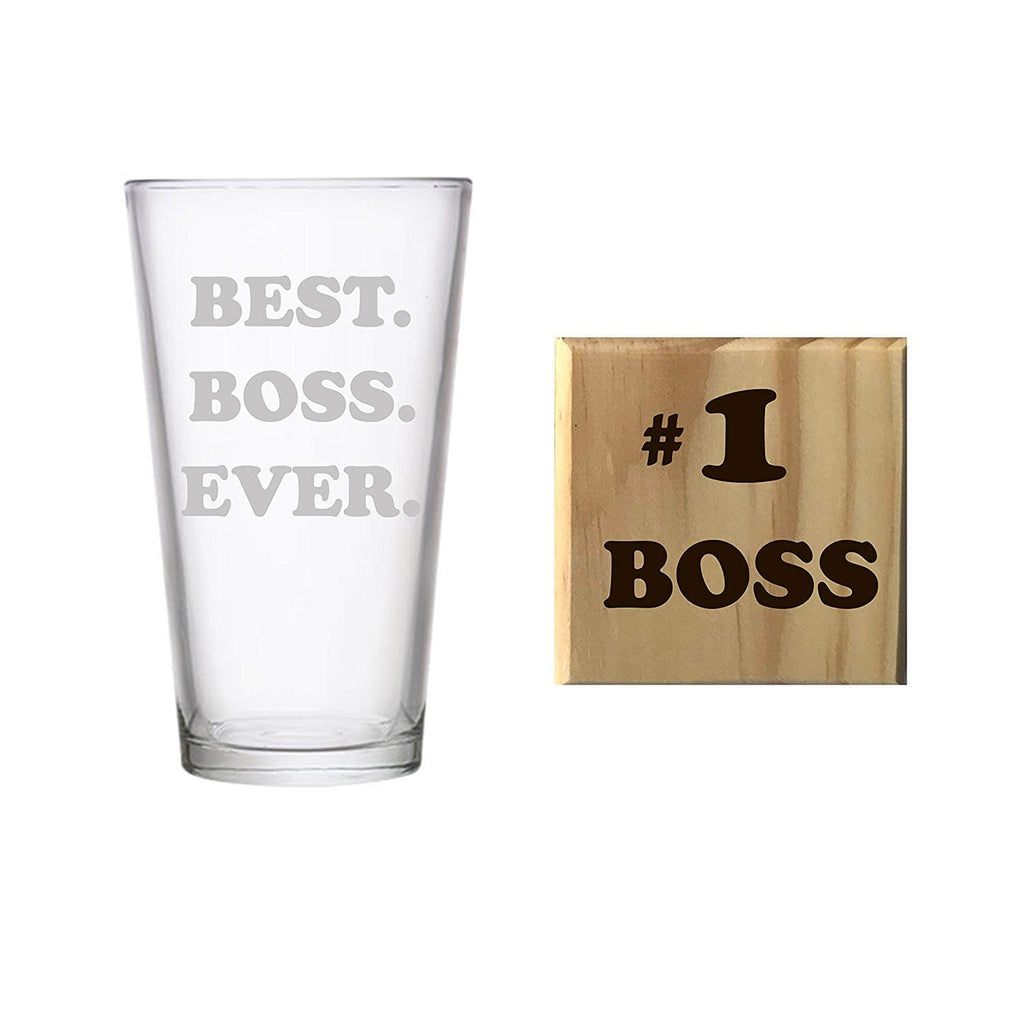 Best Boss Ever Etched Pint Glass