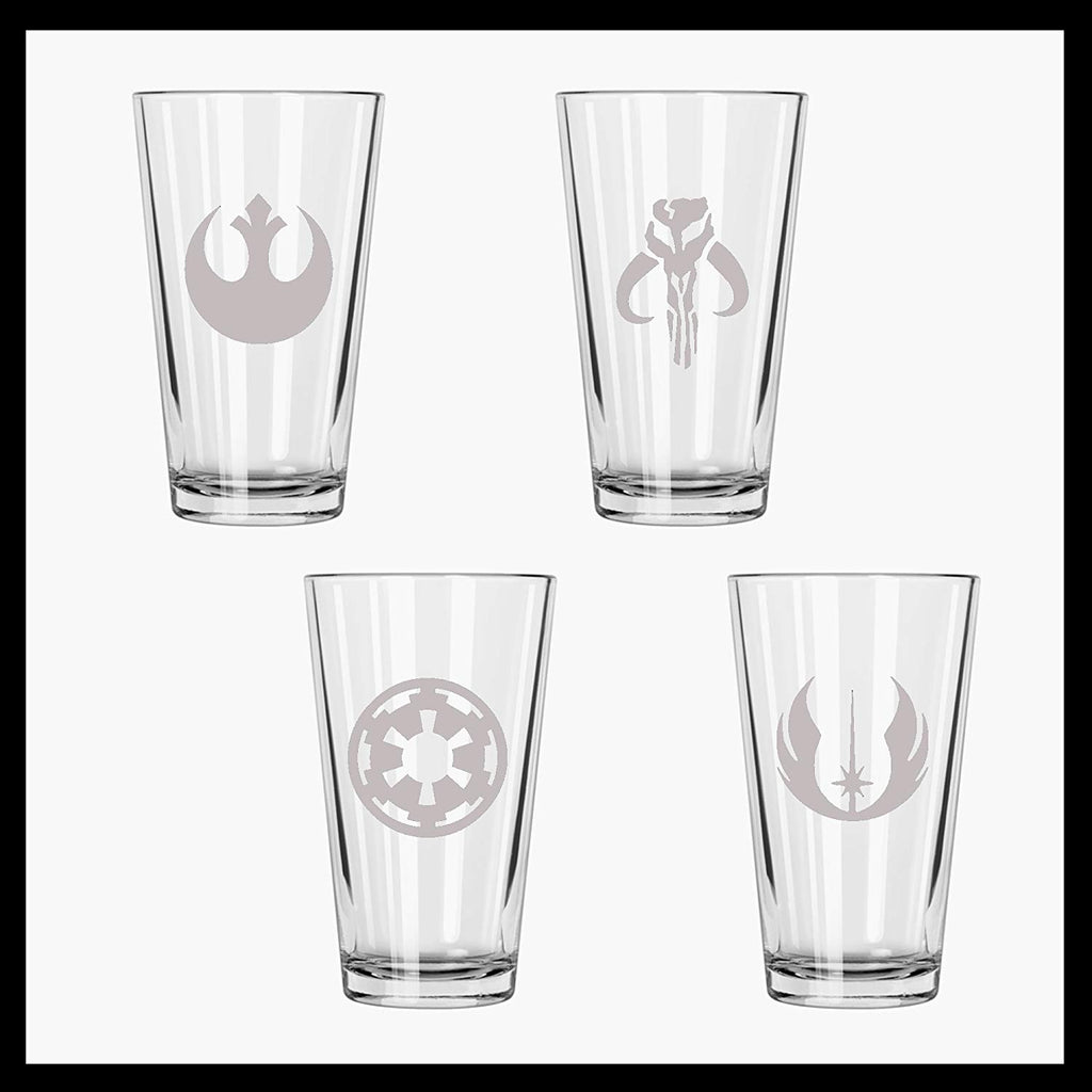SW Etched Pint Glass Set of FOUR