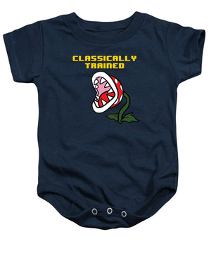 Classically Trained, Classic 8 Bit Entertainment System Characters. Babies From The 80's.  - Baby Onesie
