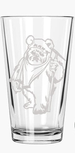 Ewok - Star Wars Fan Gift - Engraved Pint Glass