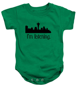 I'm Listening.  From Kacl In Seattle, Dr. Crane Is Here To Help.  - Baby Onesie