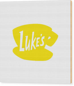 Luke's Diner Star Hollow Connecticut - Wood Print