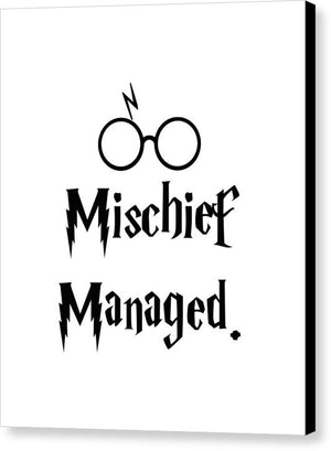 Mischief Managed With Potter Spectacles.  - Canvas Print