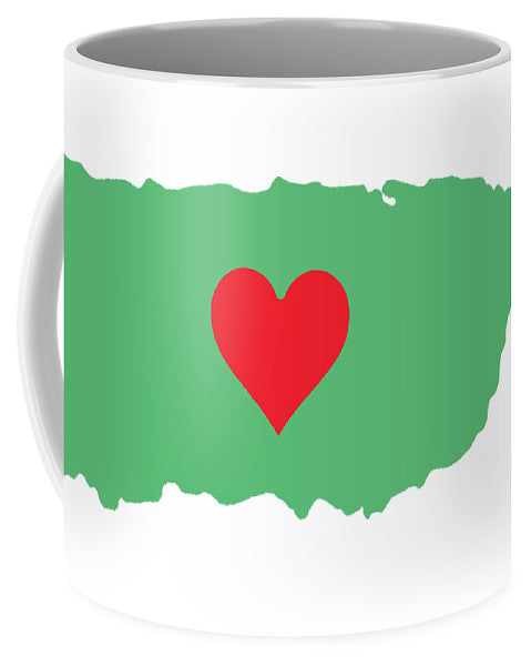 Puerto Rico Map With Heart In It. Mapa De Puerto Rico Con Corazon En El. - Mug