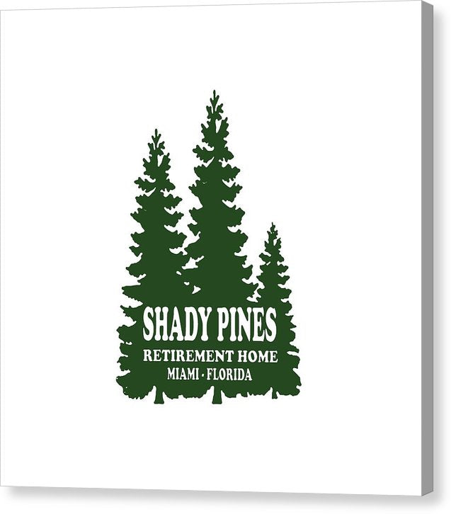 Shady Pines Retirement Home, Miami Florida.  Golden Girls Favorite.  - Canvas Print
