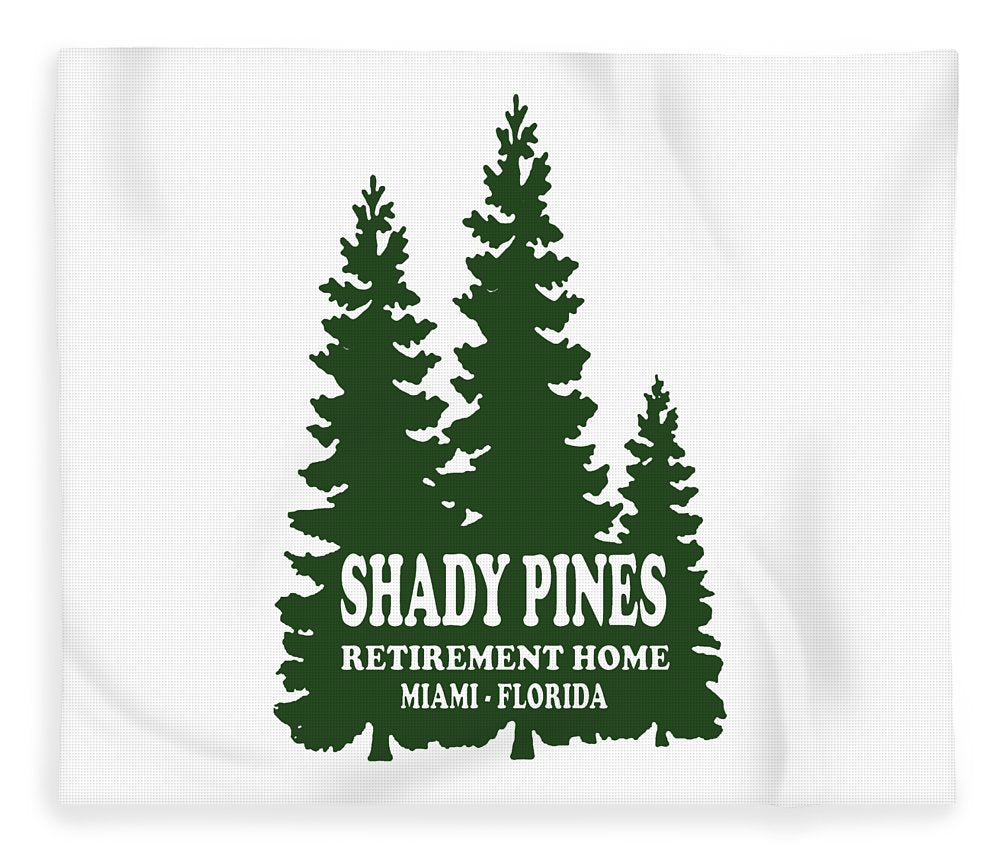 Shady Pines Retirement Home, Miami Florida.  Golden Girls Favorite.  - Blanket