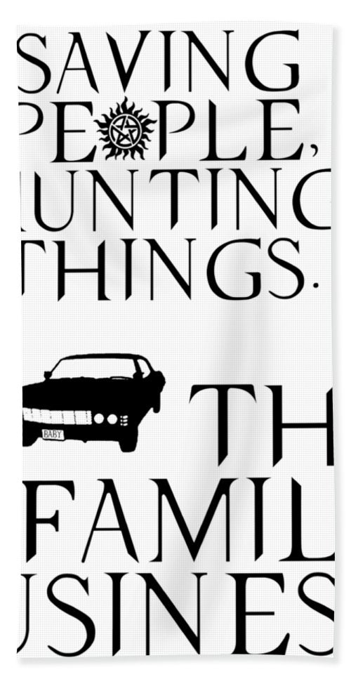 Supernatural Saving People Hunting Things - Bath Towel