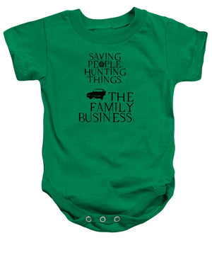 Supernatural Saving People, Hunting Things. The Family Business With Anti Possession Symbol. - Baby Onesie