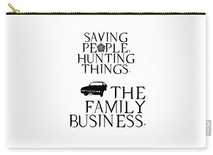 Supernatural Saving People, Hunting Things. The Family Business With Anti Possession Symbol. - Carry-All Pouch