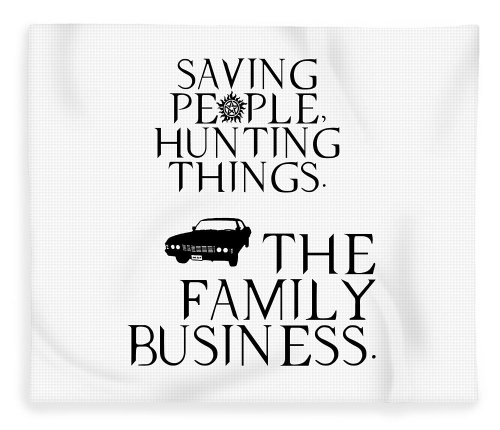 Supernatural Saving People, Hunting Things. The Family Business With Anti Possession Symbol. - Blanket