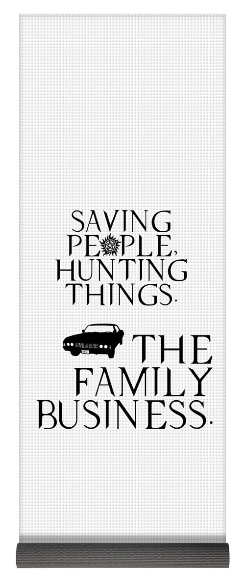 Supernatural Saving People, Hunting Things. The Family Business With Anti Possession Symbol. - Yoga Mat