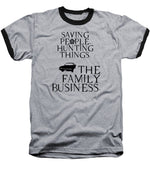 Supernatural Saving People, Hunting Things. The Family Business With Anti Possession Symbol. - Baseball T-Shirt
