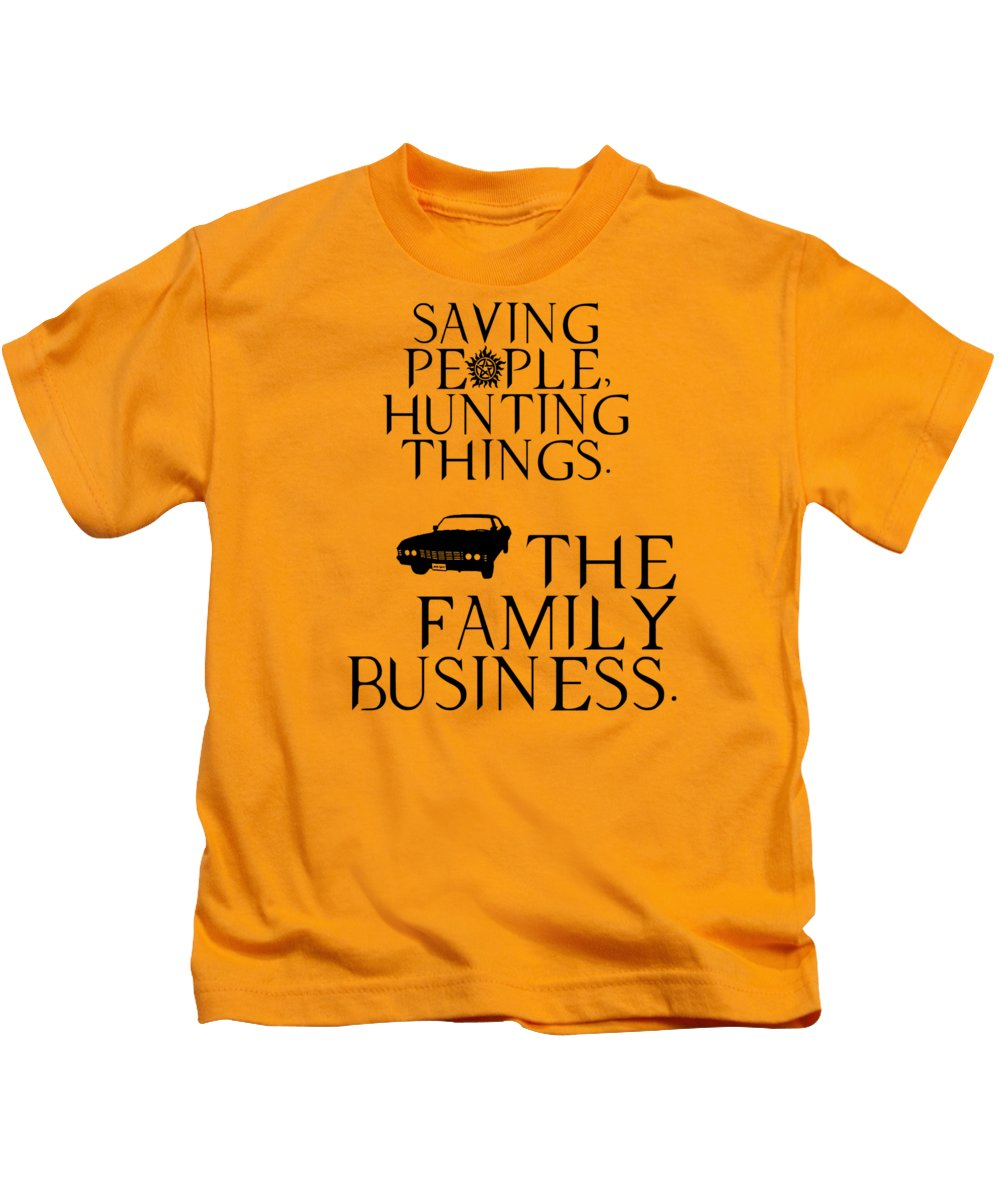Supernatural Saving People, Hunting Things. The Family Business With Anti Possession Symbol. - Kids T-Shirt