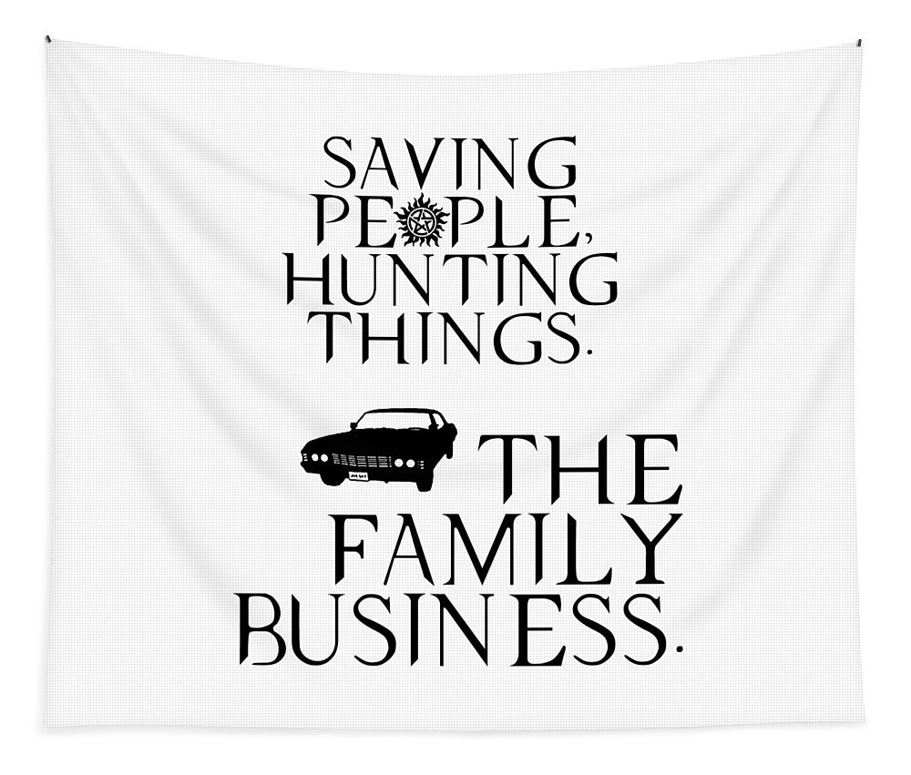 Supernatural Saving People, Hunting Things. The Family Business With Anti Possession Symbol. - Tapestry
