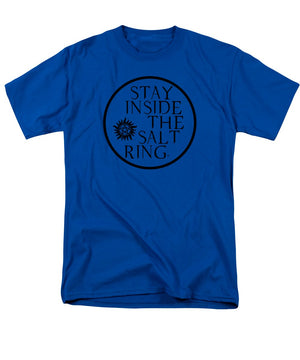 Supernatural Stay Inside The Salt Ring With Anti Possession Symbol - Men's T-Shirt  (Regular Fit)