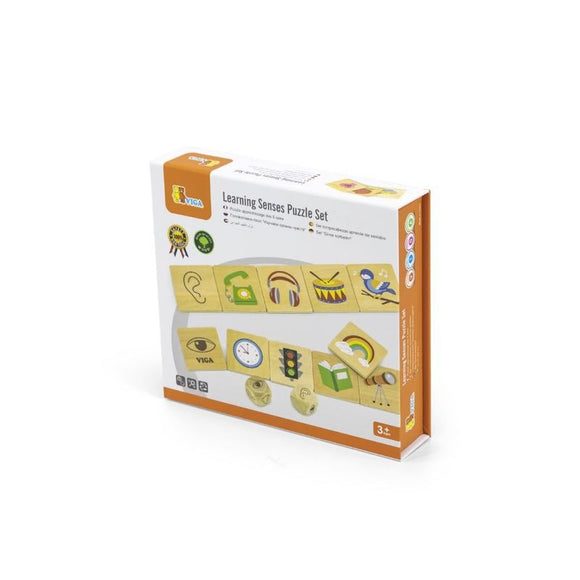 Wooden Senses Puzzle Set - Sensory Superstars