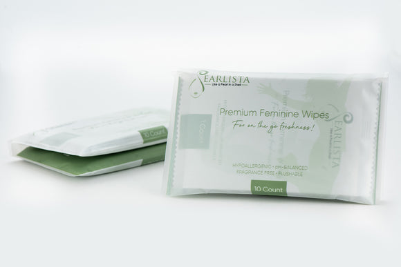 Pearlista Premium Feminine Wipes - Bundle deal consist of two bags with 20 wipes.