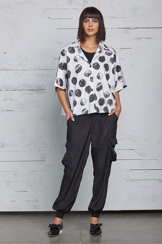 Planet Menswear Dot Shirt - Irregular Dots / O/S - beyondcotton.myshopify.com