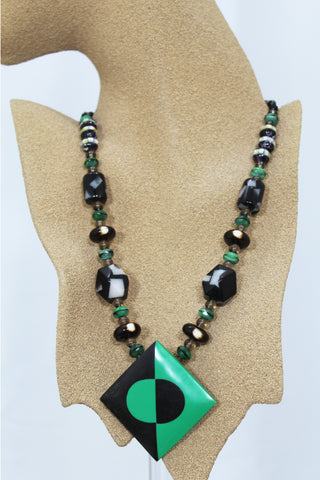 B. Aston Lucite Necklace