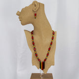 B. Aston Bakelite Necklace and Earrings