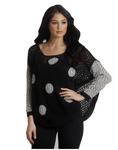 F1505 French Kyss Dot Pullover