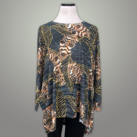 Inoah Crew Neck Top - Tropical Nights / O/S - beyondcotton.myshopify.com