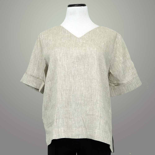 Jane Crown Linen V Neck Tee