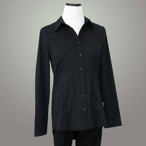 Renuar Cotton Shirt - Black / XS - beyondcotton.myshopify.com
