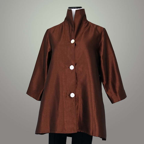Fridaze Swing Jacket - Coffee / L - beyondcotton.myshopify.com