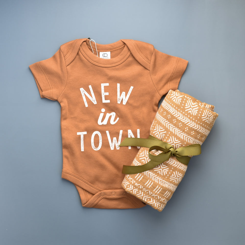 New In Town Bodysuit- Rust