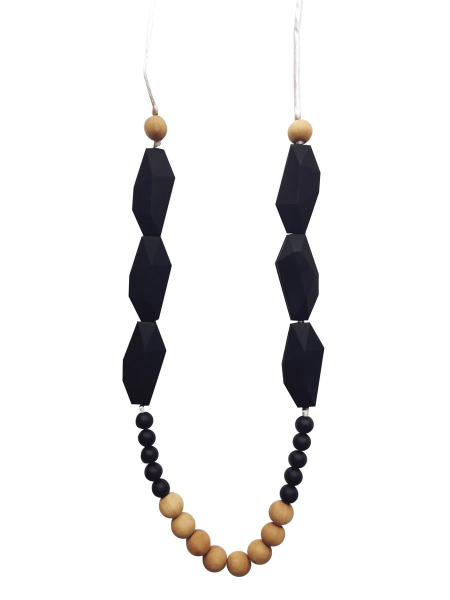 Teething Necklace- Black Diamond