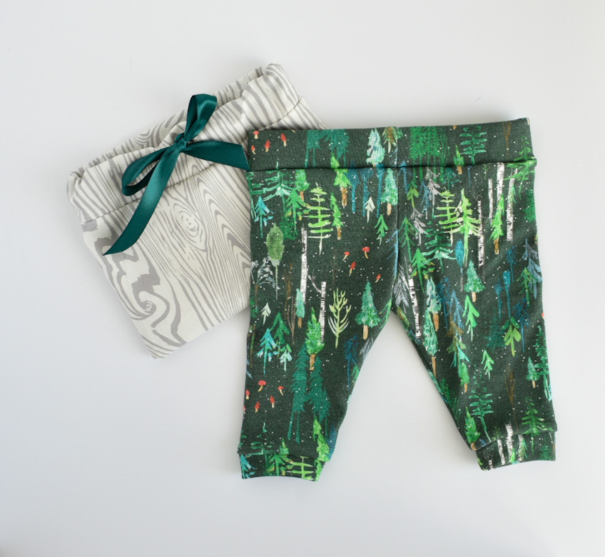 Organic Baby Leggings- Evergreen