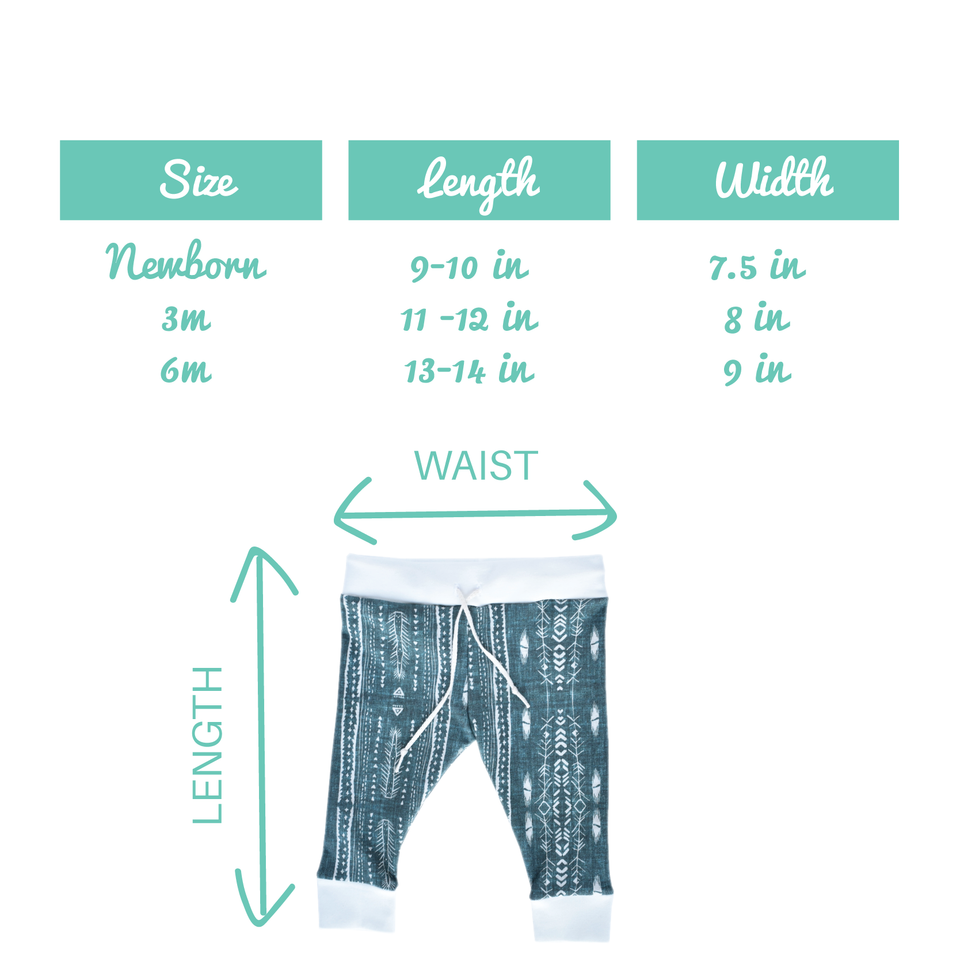 Size Chart for Baby Joggers