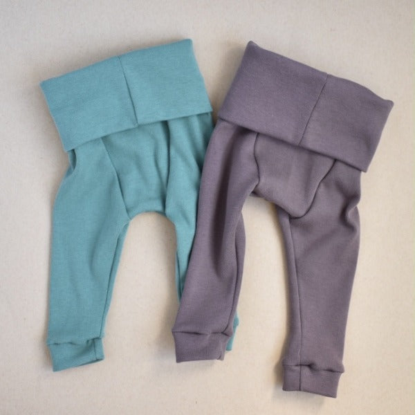 Fold Over Waist Leggings-Mushroom