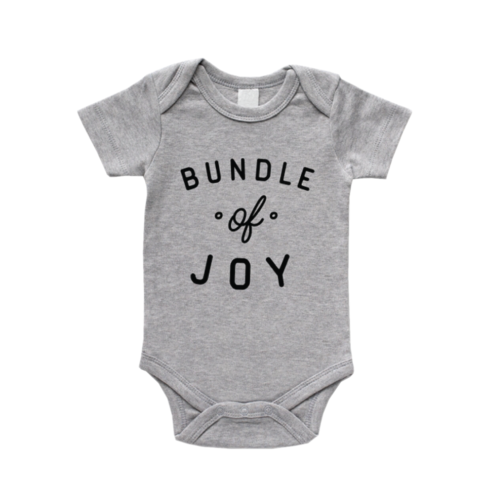 Bundle of Joy-Bodysuit- Pebble Grey