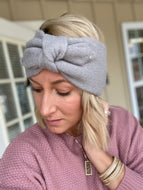 Bow headband ear warmers