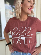 Load image into Gallery viewer, Hello fall graphic tee