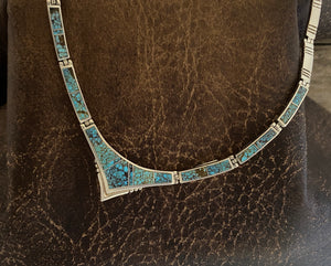 Necklace - #8 turquoise inlay necklace